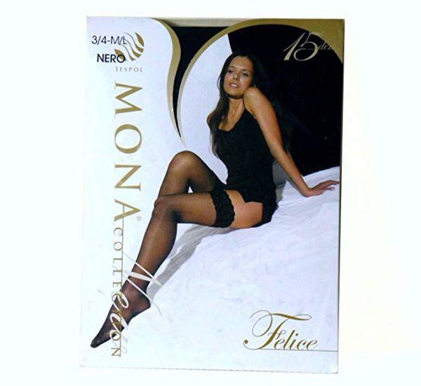 Mona Felice Stockings schwarz Größe 3/4 und 1/2