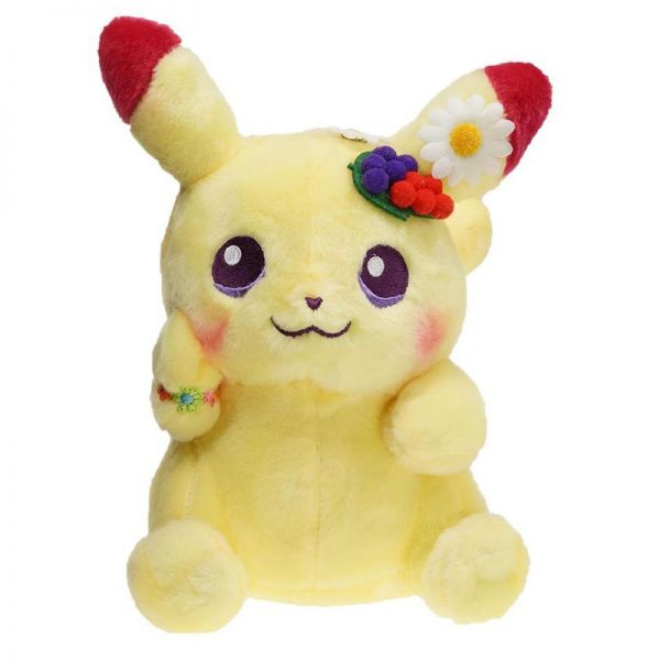 8inches Pokemon Easter Day Pikachu anime plush doll